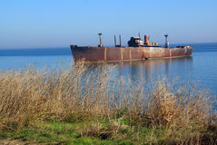 Abandoned ship Stock Image