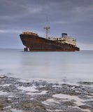 Abandoned ship. Royalty Free Stock Photo