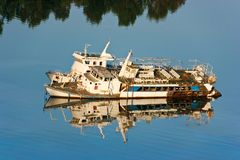 Abandoned ship Stock Photo