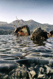 Abandoned ship Bokelj Stock Photos