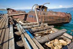 An abandoned ship Royalty Free Stock Photo