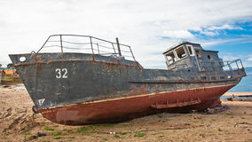An abandoned ship Royalty Free Stock Photos