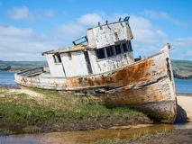 Abandoned ship. On Tomales Bay, Inverness, California Stock Photography