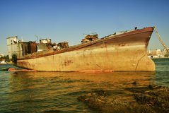 Abandoned ship wreck Royalty Free Stock Photo