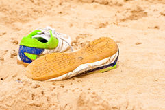 Abandoned shoes Royalty Free Stock Image