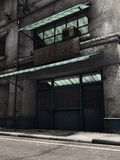 Abandoned shop. In an old city building royalty free illustration