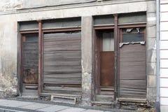 Abandoned shoppar i Goerlitz, Tyskland Arkivfoto
