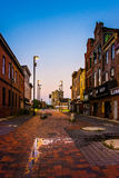 Abandoned shops at Old Town Mall, in Baltimore, Maryland. Royalty Free Stock Photos