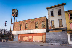 Abandoned shops at Old Town Mall, Baltimore, Maryland. Royalty Free Stock Image