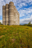 Abandoned silos at the port Royalty Free Stock Photos