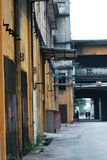 An abandoned site of an old factory in panyu, guangzhou,china stock image