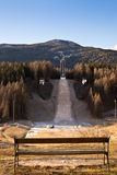Abandoned ski jump Royalty Free Stock Photos