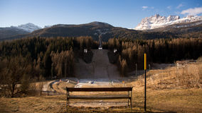 Abandoned ski jump Royalty Free Stock Photography