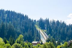 Derelict ski jump Royalty Free Stock Images