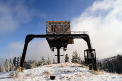 Abandoned Ski Lift Stock Image