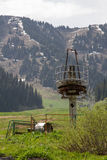 Abandoned ski resort Stock Photography