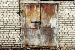 Abandoned small warehouse Stock Photo
