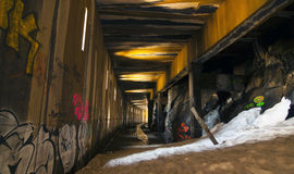 Abandoned Snow Shed Tunnel Royalty Free Stock Photos