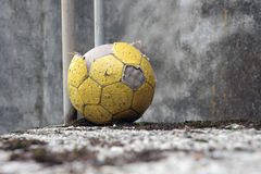 Abandoned soccer ball Royalty Free Stock Photography