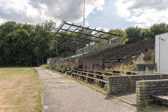 Abandoned soccer field from wageningen in Holland Stock Photography
