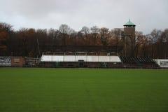 Abandoned soccer stadium in Wageningen named Wageningse Berg. Where FC Wageningen went bankrupt in 1992 stock photos