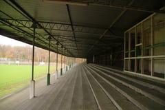 Abandoned soccer stadium in Wageningen named Wageningse Berg. Where FC Wageningen went bankrupt in 1992 royalty free stock image