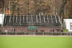 Abandoned soccer stadium in Wageningen named Wageningse Berg stock photo