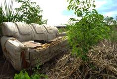 An Abandoned sofa stock photos