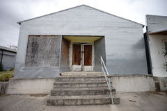 Abandoned southern style building in texas stock images