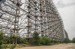 Abandoned Soviet radar facility DUGA Royalty Free Stock Photo