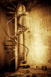Abandoned spiral staircase Royalty Free Stock Images