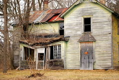 Abandoned spooky farm house Royalty Free Stock Images