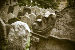 Abandoned spooky grave yard Stock Photography