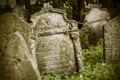 Abandoned spooky grave yard Stock Photo