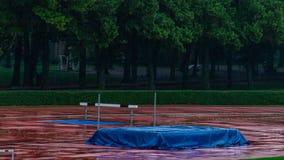 Abandoned sport facilities because of rain. In Kladno. The damn rain stock photos