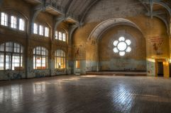 Abandoned sports hall in Beelitz... Stock Images