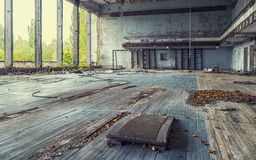 Abandoned sports hall Royalty Free Stock Image