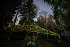 Abandoned sports track at night Stock Photography
