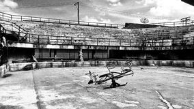 Abandoned Stadium BW2 Royalty Free Stock Image