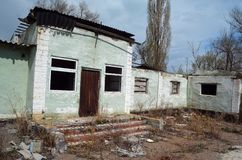Abandoned stadium.Sary Shagan. Stock Image