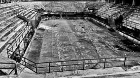 Abandoned Stadium wideshot BW4 Royalty Free Stock Images