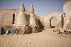 Abandoned Star war village in Sahara desert Tunisia Stock Images