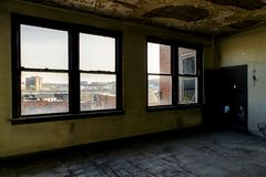 Abandoned Statts Hospital - Charleston, West Virginia stock photo