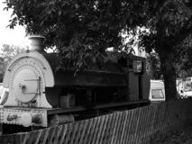 Abandoned steam train royalty free stock image