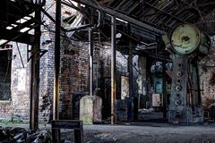 Abandoned steel forgers Royalty Free Stock Photos