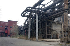 Abandoned steel mill Stock Photography