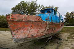 Abandoned steel ship Royalty Free Stock Image