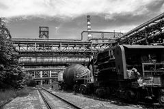 Abandoned steel works Stock Images