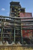 Abandoned steelmaking equipments Stock Photo