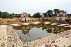 Abandoned stepwell. Fatehpur. Rajasthan. India Royalty Free Stock Image